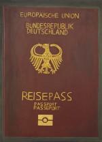 """""""Reisepass, Kölner Straße 176"""", 2006, 95x45, Acryl auf Leinwand"""